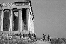 soldiers at the Pathenon, Athens