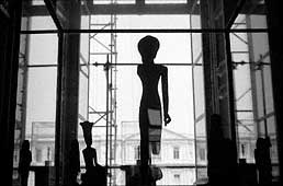 Egyptian statue in museum