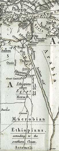 antique map of Egypt